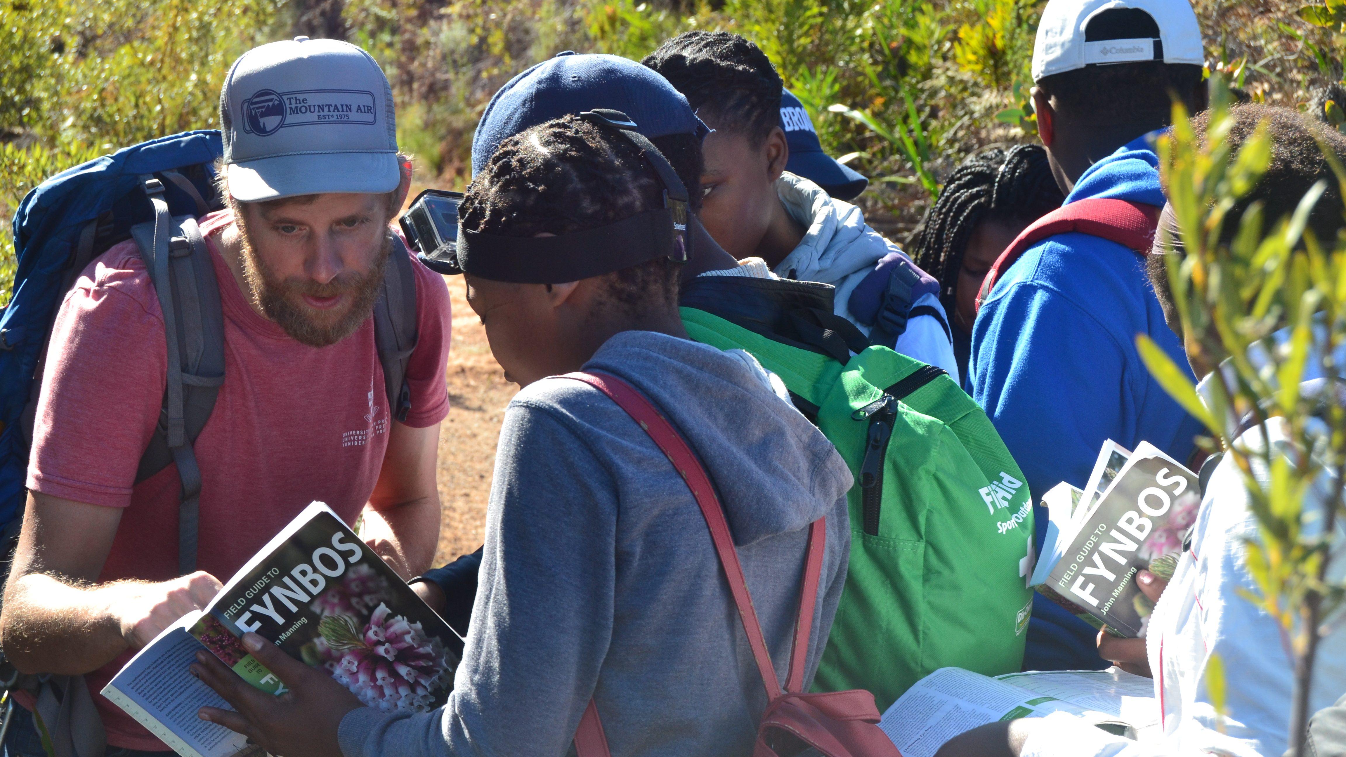 learners identifying plants